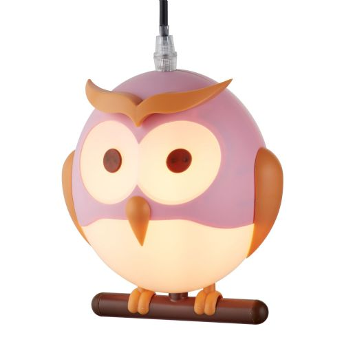 Novelty Childrens Owl Pendant, Pink (Double Insulated) Bx0113Pi-17